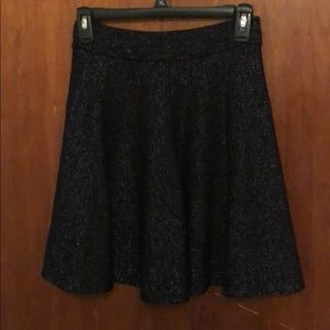 Shimmery black skirt